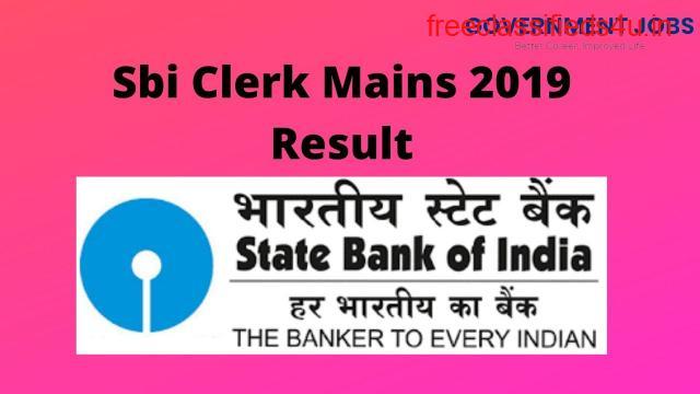 Sbi Clerk Mains 2019 Result